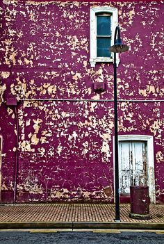 purple wall. Port Adelaide, South Australia photography by Joslin Hartley..Port Adelaide is where i was born