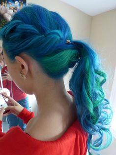 7179b54e9 Cabello azul con verde  ) Green blue hair  ) Cortes De Cabelo