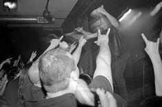 "Voivod live @ La Sala Rossa, Montréal, 07/06/2012. Black and white film photography by François Carl Duguay. Order a 16"" x 20"" silverprint ovet at www.laligneaharde.com ""$40"""