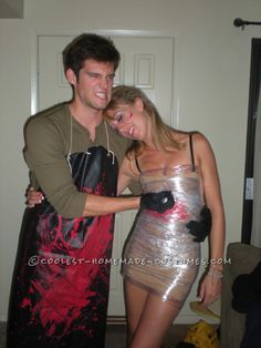 Cheap and Easy to Make Dexter Couple Costume... This website is the Pinterest of costumes