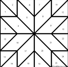 Barn quilt patterns, Barn quilts and Quilt patterns on . Barn Quilt Designs, Barn Quilt Patterns, Patchwork Patterns, Pattern Blocks, Quilting Designs, Quilting Templates, Quilting Patterns, Star Quilt Blocks, Star Quilts
