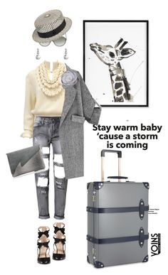 """High flyers with yoins"" by pensivepeacock ❤ liked on Polyvore featuring Gucci, Chanel, Jonathan Adler, Maison Michel, Globe-Trotter, women's clothing, women, female, woman and misses"