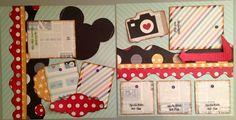 Disney scrapbook two page layout  Kiwi Lane Designs