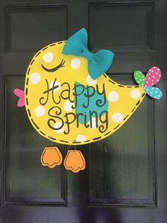 Spring Bird Door Hanger