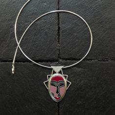 Cloisonne Enameled Silver Necklace  Enameled by StudioIlonaArt