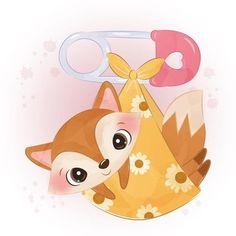 Sheep Illustration, Fox Art, Cute Fox, Vector Photo, Badge, Pikachu, Clip Art, Watercolor, Projects
