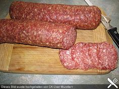 This domain may be for sale! Homemade Salami Recipe, Salami Recipes, Homemade Sausage Recipes, Beef Recipes, Meat Love, German Sausage, Long Term Food Storage, How To Make Sausage, Sausage Making