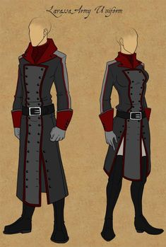 Lavassa Army Uniforms by Tales-of-Arcea. on - Uniform Character Outfits, Character Art, Anime Outfits, Cool Outfits, Army Uniform, Fantasy Armor, Drawing Clothes, Character Design References, Character Design Inspiration