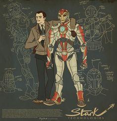 Iron Man dieselpunk design
