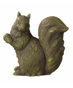 Loving This Mossy Squirrel Garden Statue On #zulily! #zulilyfinds
