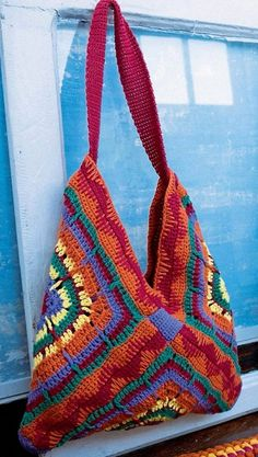 Stylish And Easy Crochet Bag Very easy bag, just 3 big crochet squares, free pattern … Source … Each big square can be replaced by 4 or 9 smaller squares The crochet Pattern … More crochet squares patterns … Crochet Handbag Pattern Of 13 Squares … Crochet Market Bag, Crochet Tote, Crochet Baby Shoes, Crochet Handbags, Crochet Purses, Crochet Crafts, Easy Crochet, Knit Crochet, Crotchet Bags