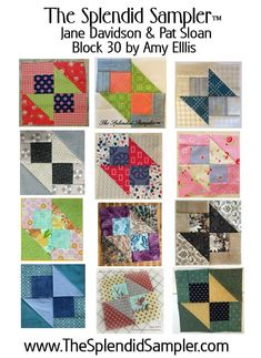 """I've mentioned The Splendid Sampler a few times here, and I'm glad to share my block with all of you today! When I looked at designing a 6"""" block, my initial thought was to keep it simple and yet add movement. Many months later, and many complicated blocks too - I'm sure many of you"""
