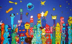 James Rizzi inspired from kidsartists