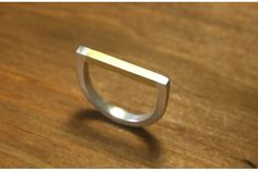 Two Tone: Brass and Silver Ring (single) by Long Jean Silver on hellopretty.co.za