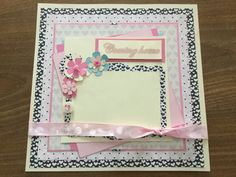 """Pre-made 12""""x12"""" scrapbook page for your baby girl's coming home from the hospital picture by Carolsues on Etsy"""