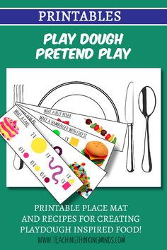 """Can't wait to make some playdough food with these """"recipes"""". Educational Activities For Kids, Gross Motor Skills, How To Make Cheese, Dramatic Play, Food Themes, Emotional Intelligence, Pretend Play, Preschool Ideas, Critical Thinking"""