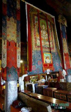 Innenansicht von der Drepung Monastery in Lhasa, Tibet
