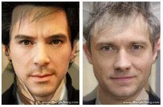 Robert Downy Jr morphed with Benedict Cumberbatch, and Jude Law with Martin Freeman.