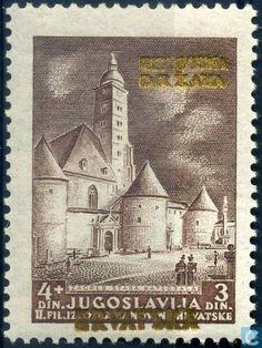 Postage Stamps - Croatia - Yugoslavian stamps overprinted