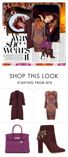 """""""the way she wears it"""" by lifestyle-ala-grace ❤ liked on Polyvore featuring River Island, Givenchy, Hermès, Aquazzura and E L L E R Y"""