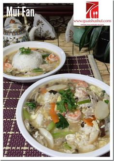 Chinese Style White Rice With Nutritious Gravy: Mui Fan aka Lam Fan (蛋香什锦烩饭/淋饭/炆饭    #guaishushu #kenneth_goh     #mui_fan