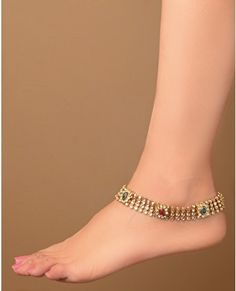 Delicate + pretty: Payal (Anklet) indian-dresses-jewelry-accessories