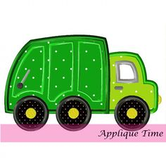 Trash Truck from Applique Time