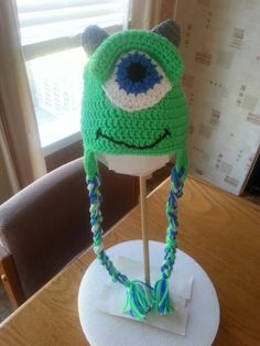 Crocheted Mike from monsters inc