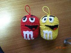 m&m's crochet eggs