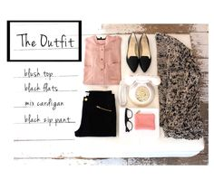 how to wear it... cute outfit (blush & black)