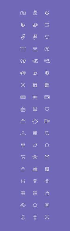 54 eCommerce Icons