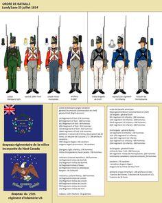 Ordine di battaglia a Lundy's Lane American Uniform, American War, Army & Navy, Us Army, Army Uniform, Uniform Dress, Waterloo 1815, British Uniforms, War Of 1812