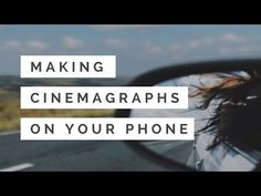 How I make cinemagraphs (moving photos) for Instagram on my phone - YouTube