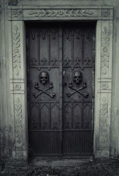 This door is a bit daunting don't you think. Creepy but beautiful.