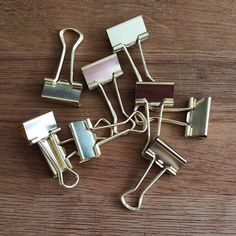 Gold Binder Clips - Small