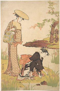 Torii Kiyonaga (Japanese, 1742–1815). The Iris Garden, ca. 1784. Japan. The Metropolitan Museum of Art, New York. Fletcher Fund, 1929 (JP1513) #iris #flower