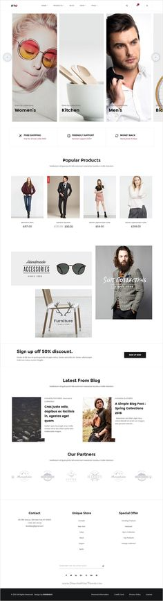 Etto is a clean and unique design #responsive #WordPress #eCommerce theme #webdesign using latest trendy material design for online shopping stores website with 4 different homepage layouts download now➩