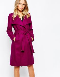Ted Baker Lorili Long Button Detail Wrap Coat  ASHLEA'S NOTE:  Like the rich, bold color in a staple.  And the pink doesn't look too girly.