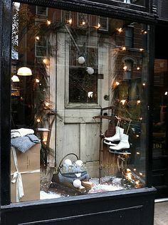 winter related items like white ice skates, sleds,vintage skis etc.