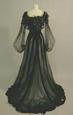 Evening dress ca. 1900 From the Brighton & Hove Museums