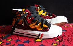 Baskets stylées pour enfant en wax par Jenny Patsy pour Afrikrea. https://www.afrikrea.com/article/baskets-enfant-en-wax-t29-baskets-noir-unisexe-coton/P6335FJ?utm_content=bufferb5f61&utm_medium=social&utm_source=pinterest.com&utm_campaign=buffer