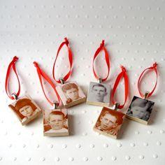 Family History Inspired Christmas Ornaments.