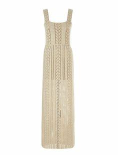 Hand knitted crochet long dress Crochet Long Dresses, Knit Patterns, My Wardrobe, Knit Dress, Style Icons, Hand Knitting, Knit Crochet, Personal Style, Fashion Outfits