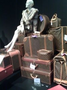 28113e699c4a A pile of Elizabeth Taylor s Louis Vuitton luggage (each equipped with her  purple tag reading