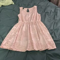 Baby pink lace baby doll dress EUC- light pink lace baby doll dress no trades *unknown brand ASOS Dresses