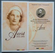 Belgium 250 francs 1995 60th Anniversary of the death of Queen Astrid.A♥W