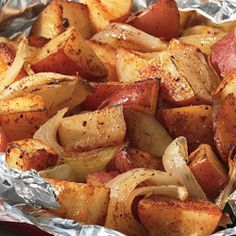 BBQ Potatoes with Onions