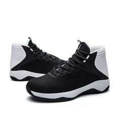 82eb6f35af59 High Top Mens Basketball Shoes Mesh Retro Basketball Boots Breathable  Nonslip Lace Up Black Trainers Zapatillas Sneakers Cheap
