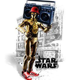 Star Wars by Alex Fuentes - Los Fokos, via Behance Star Wars Love, Star Wars Art, Star Wars Droids, Hip Hop Art, Fanart, Comic Games, A New Hope, Star Wars Humor, Chewbacca