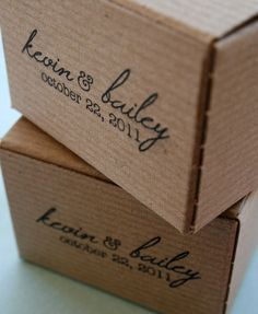100-piece Imprinted Small Kraft Favor Boxes - Wedding Favors - Etsy Shop Packaging. $99.00, via Etsy.